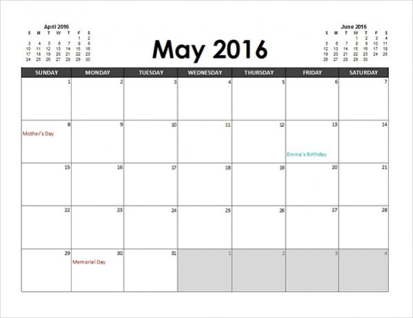 free-printable-excel-calendar