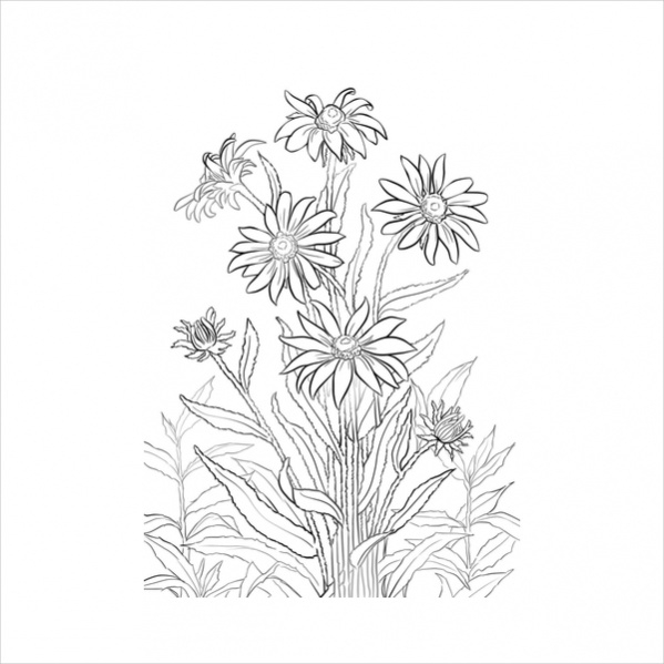free-printable-flowers-coloring-page