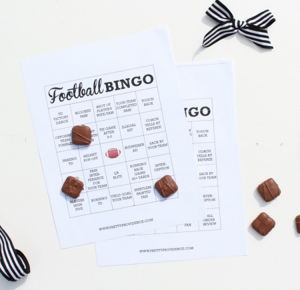Free Printable Football Bingo Card