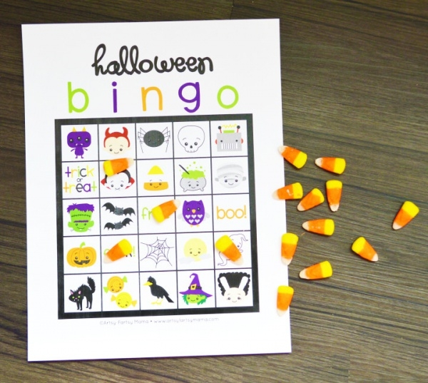Free Printable Halloween Bingo Card Design
