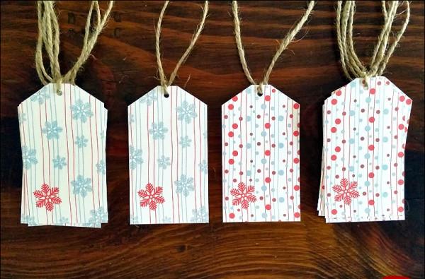 Free Printable Holiday Gift Tag Designs