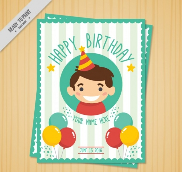 free printable kids birthday card