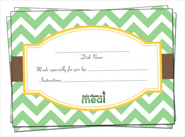 Free Printable Label for Meals