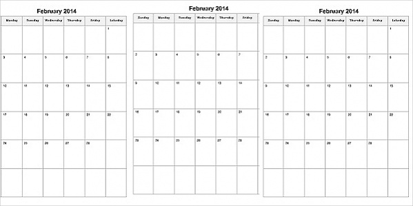 22+ Free Printable Calendars - Psd, Excel,Vector Eps Download
