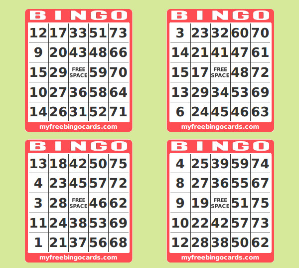 photograph regarding Free Printable Bingo Cards With Numbers identified as Printable Amount Bingo Playing cards - C # ile Website e Hükmedin!