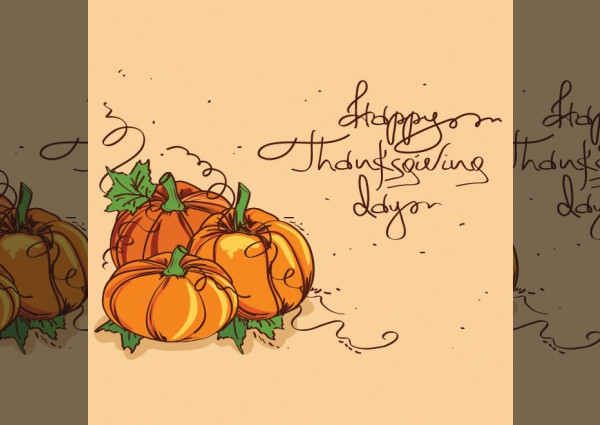 picture regarding Printable Thanksgiving Cards identified as 15+ Thanksgiving Card Ideas - JPG, Vector EPS Obtain