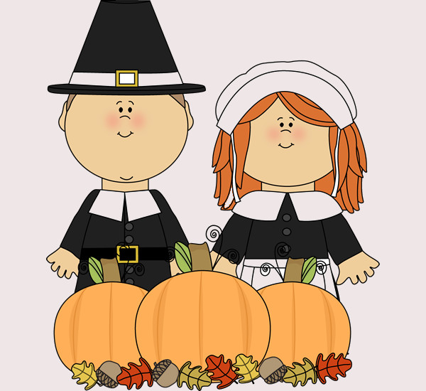 Free Printable Thanksgiving Couple Clip Art