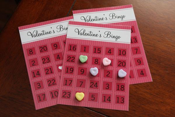 Free Printable Valentine Bingo Card