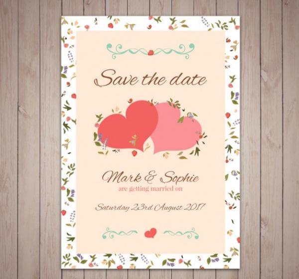 free printable wedding greeting card