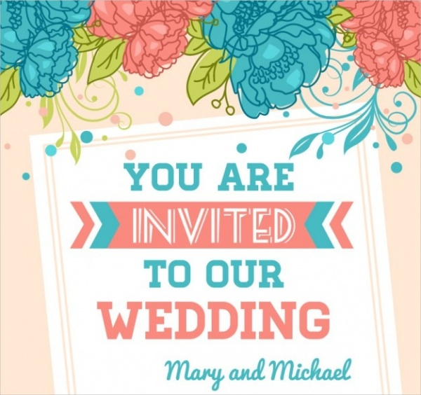 Free Printable Wedding Party Invitation