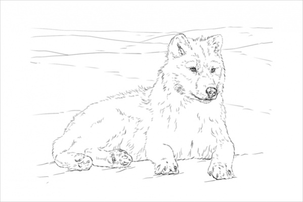 It's just a graphic of Peaceful Printable Wolf Coloring Pages