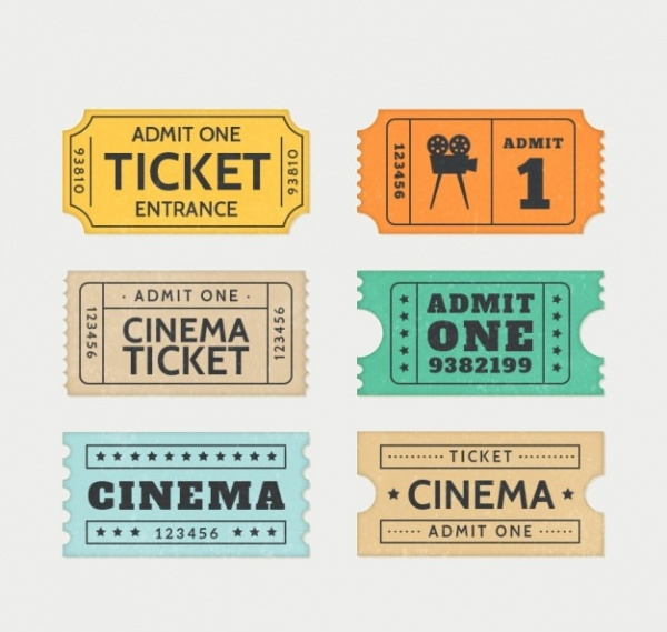 Free Retro Ticket Template