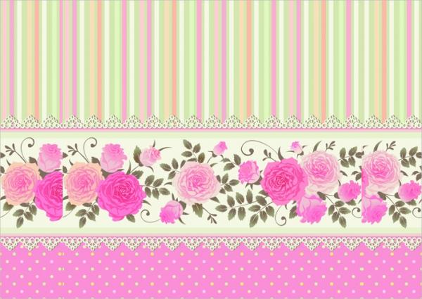 Free Rose Pattern Background