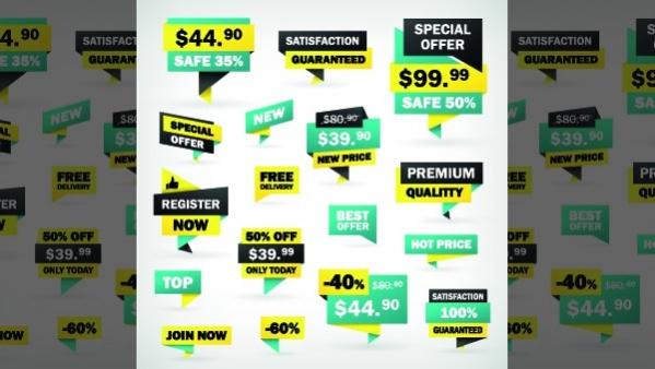 Free Sale Sticker Label Design