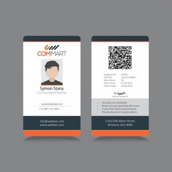 Free Simple ID Card Design