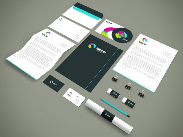 Free Stationary Mockup Design