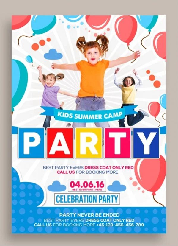 Free Summer Camp Flyer Design