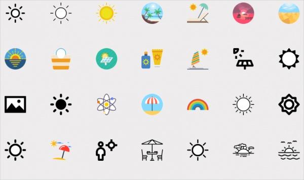 free-sun-icons-set