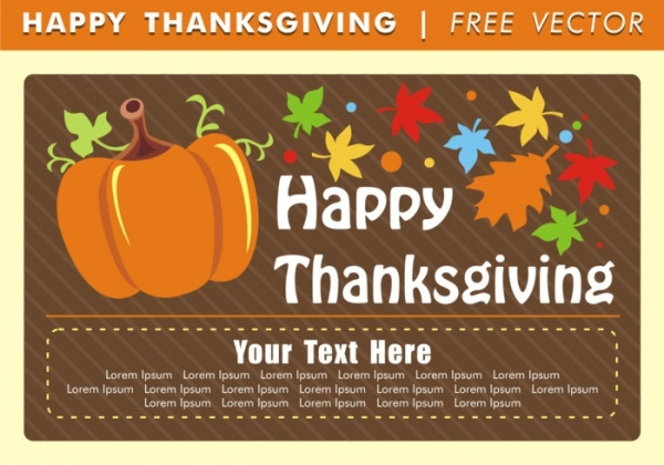 Free Thanksgiving E-Card Design