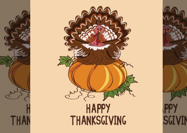 Free Thanksgiving Pumpkin Card Template