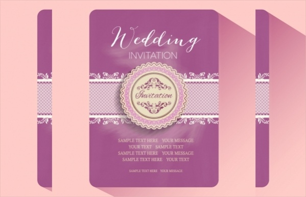 20 Free Wedding Invitations PSD Vector EPS Download