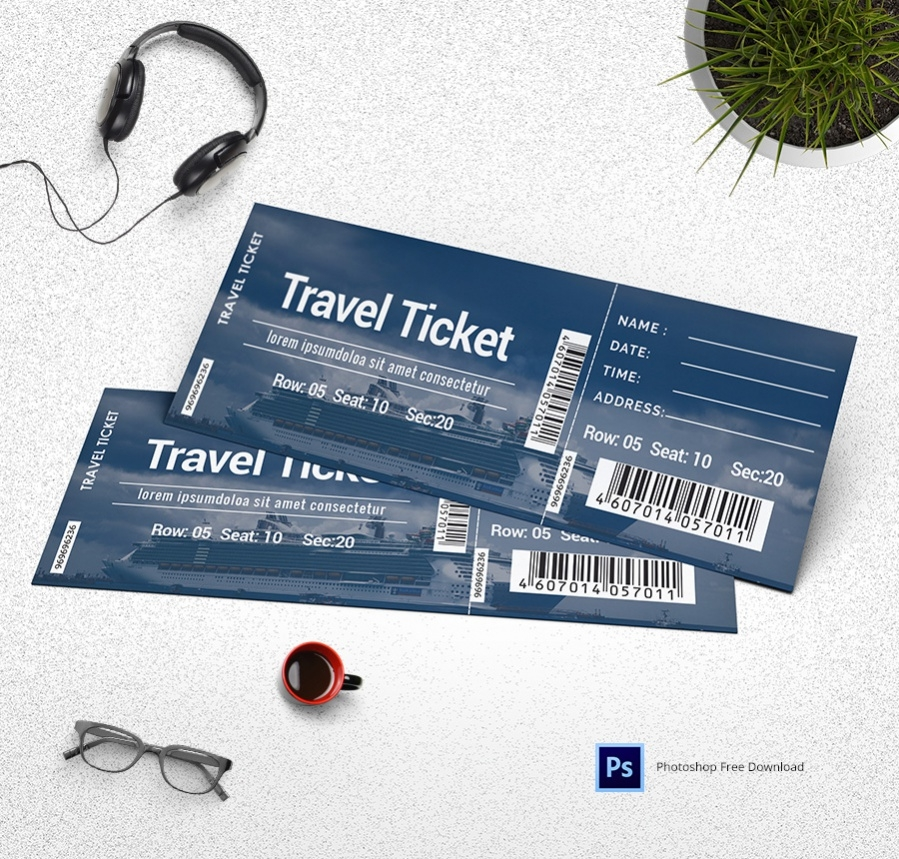 Free Travel Ticket Templates For You