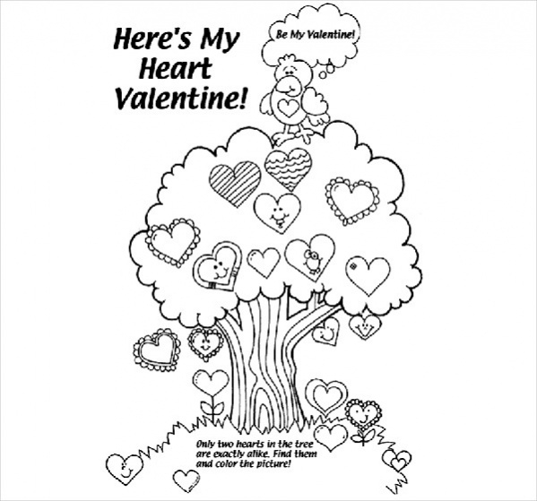 Free Valentine Coloring Page for Adults