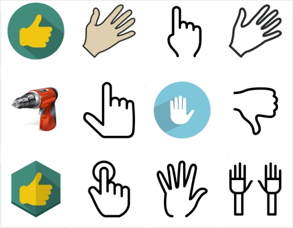Free Vector Hand Cursor Icons