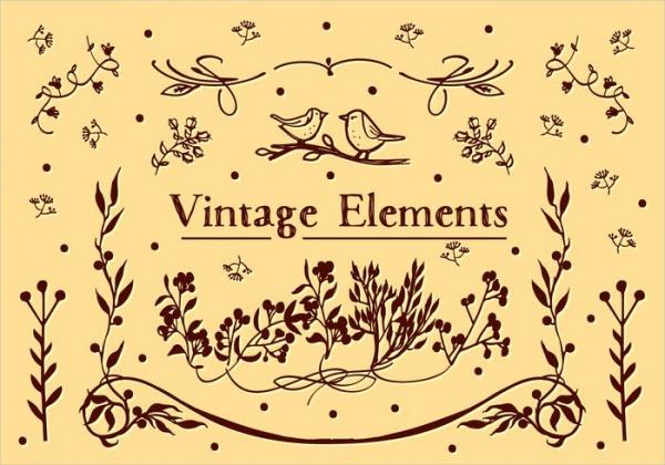 Free Vintage Elements Vector Art