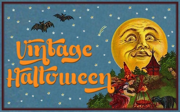 Free Vintage Halloween Wallpaper