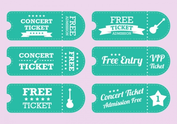 Free Vintage Ticket Design