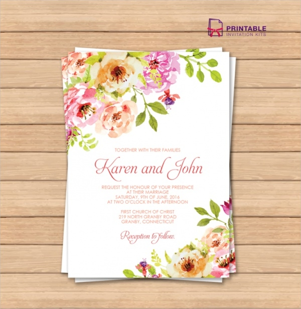 Free 33 Elegant Wedding Invitation Designs In Psd Ms Word Ai Eps Pages Publisher