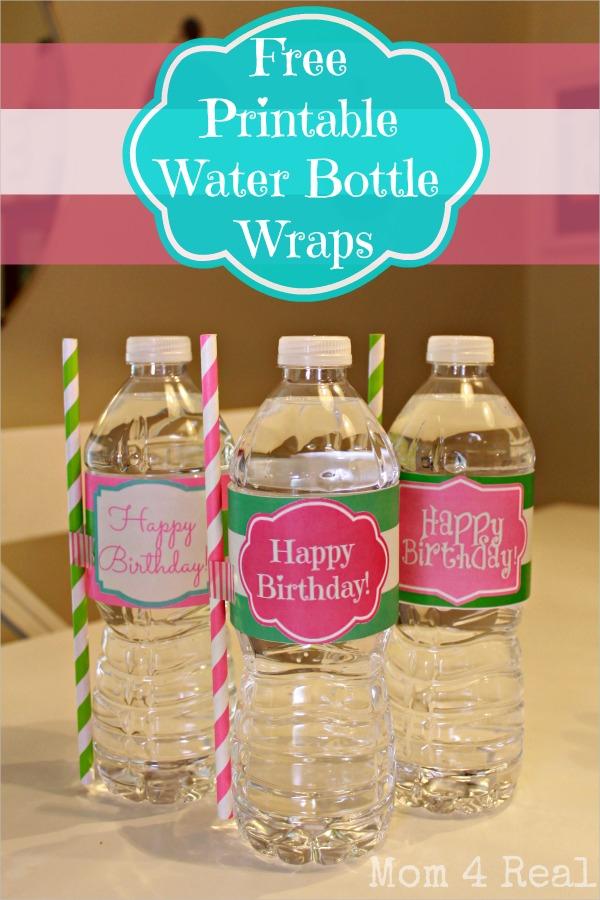 Free Water Bottle Label Template
