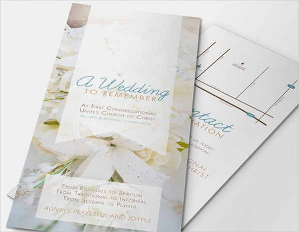 free wedding brochure design