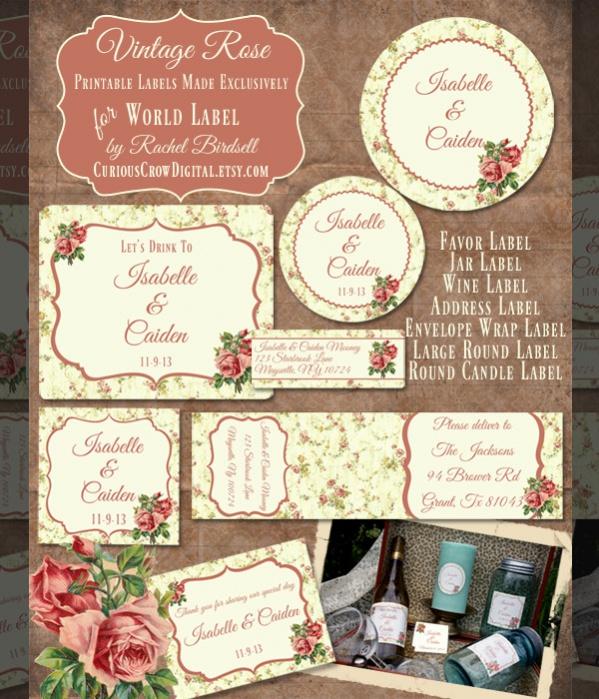 Free Wedding Labels