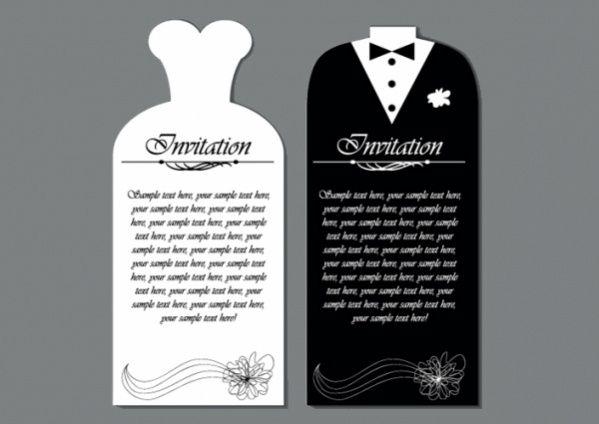 Free Wedding Invitations PSD Vector EPS Download - Wedding reception invitation templates free download