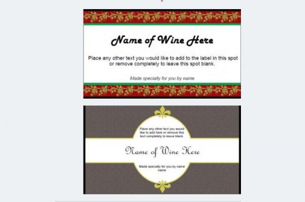 Free Wine Label Design