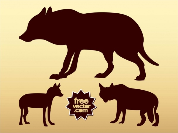 free-wolf-silhouettes-design