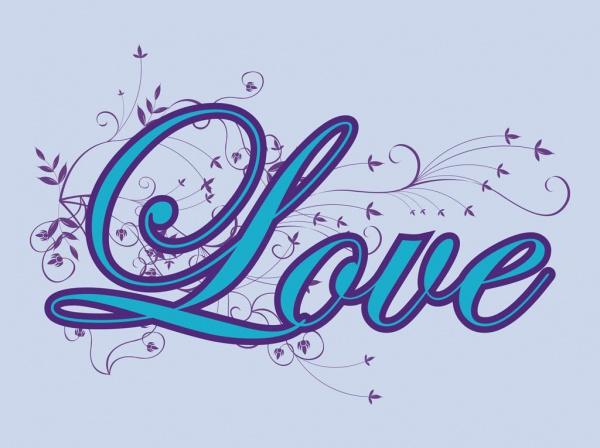 Elegant Love Typography Vector
