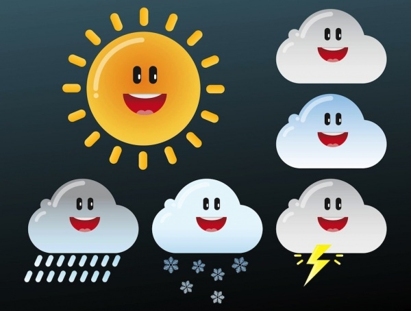 freevector weather cartoons