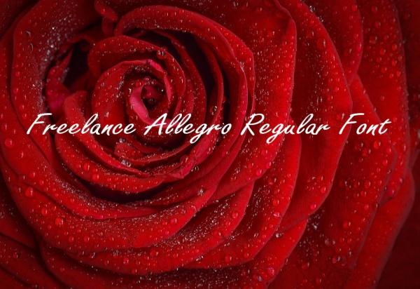 Freelance Allegro Regular Font