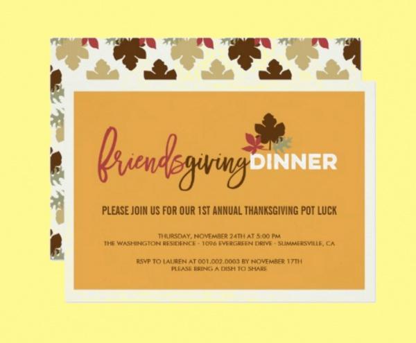 Friendsgiving Dinner Invite