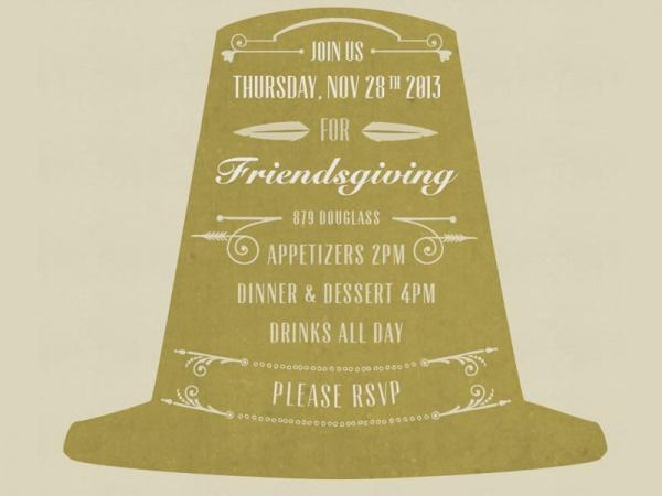 Friendsgiving Feast Invitation