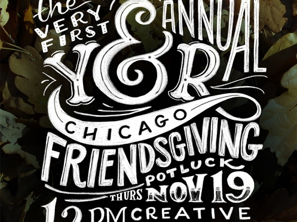 Friendsgiving Typography Invitation