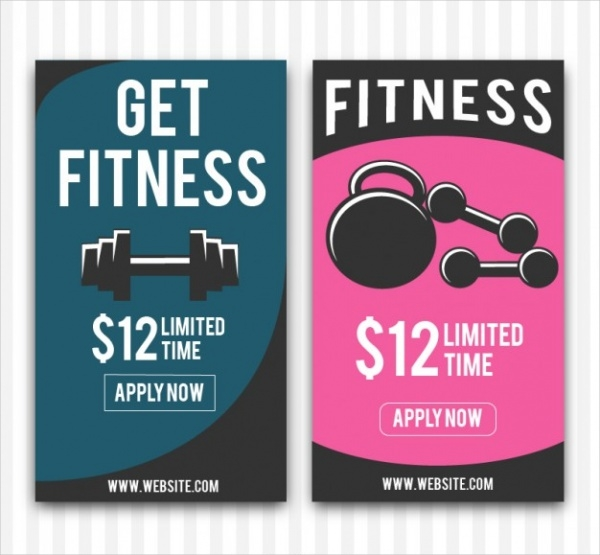 fully customizable fitness banner design