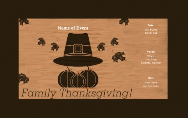 fully customizable friendsgiving invitation