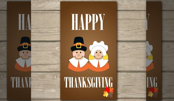 Fully Customizable Thanksgiving Card