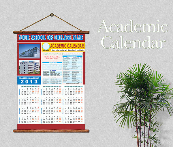 Fully Customized Academic Calendar