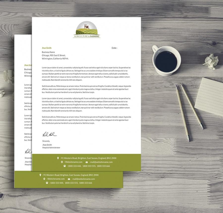 fully customized agriculture farming letterhead1
