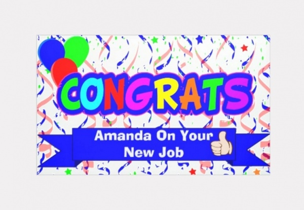 Fully Editable Congratulation banner